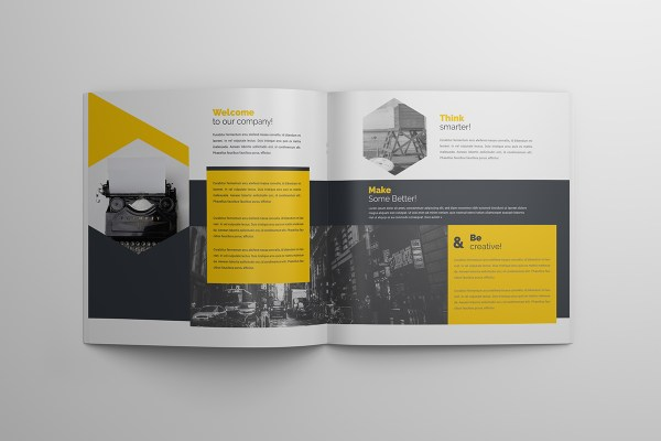 Elegant 16 Pages Square Magazine Template