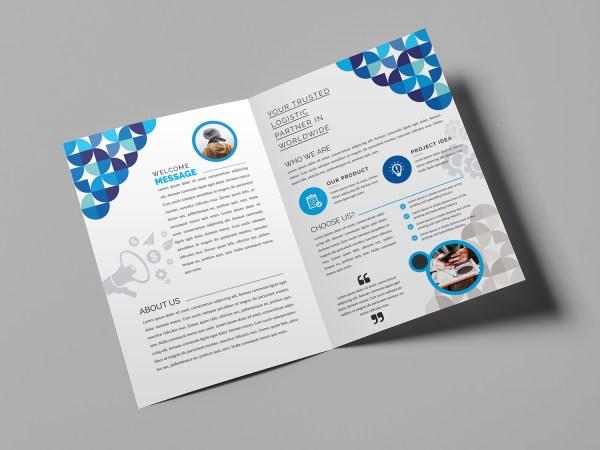 Fancy Bi-Fold Brochure Template