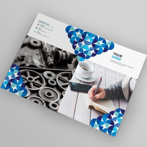 Fancy Bi-Fold Brochure Template