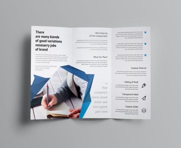 Fancy Business Tri-Fold Brochure Template