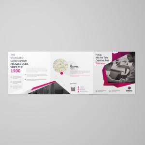 Fancy Elegant Corporate Square Tri-Fold Brochure