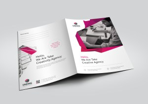 Fancy Modern Corporate Presentation Folder Template