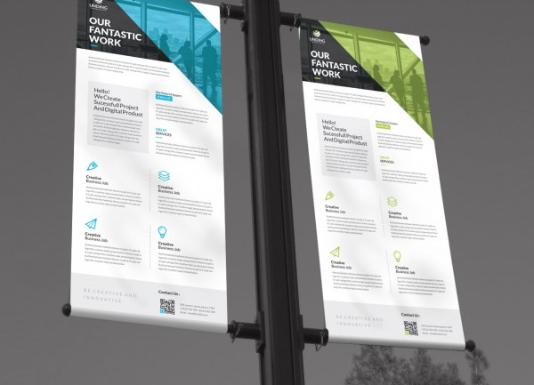 Fantastic Professional Roll-Up Banner Template