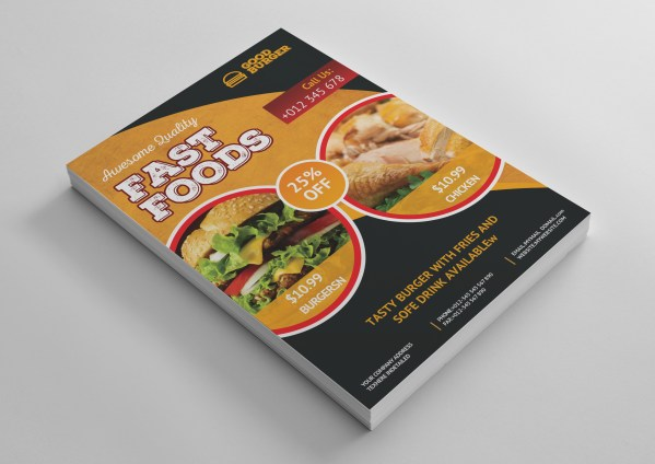 Fast Food Cafe Professional Flyer Template