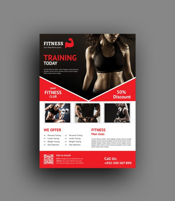 Fitness Center Professional Flyer Template