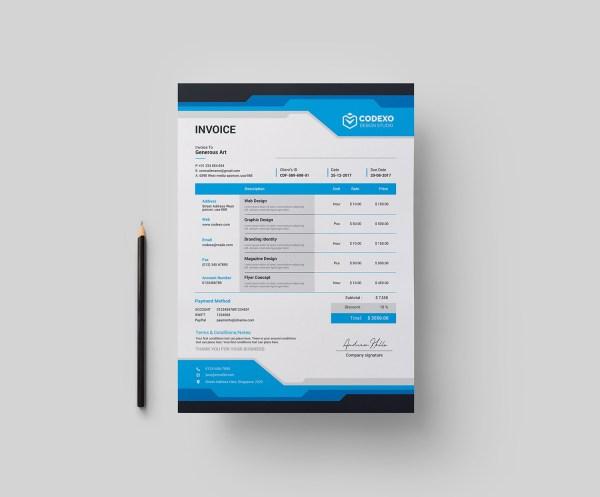Gala Stylish Corporate Invoice Template