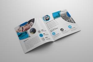 Goddess Premium Square Bi-Fold Brochure Template
