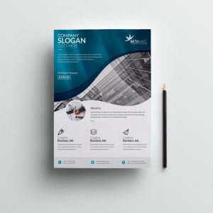Halley Elegant Professional Business Flyer Template