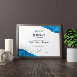 High Quality Elegant Corporate Certificate Template