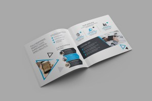 Iris Plain Corporate Bi-Fold Brochure Template