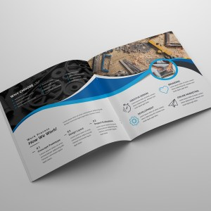 Janus Corporate Square Bi-Fold Brochure Template
