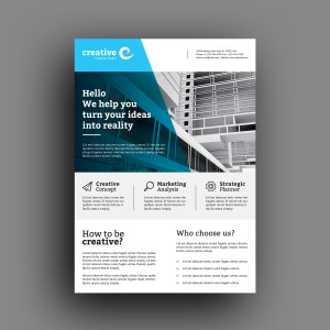 Lisbon Modern Business Corporate Flyer Template