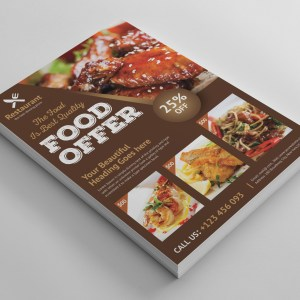 Luxury Restaurant Flyer Template