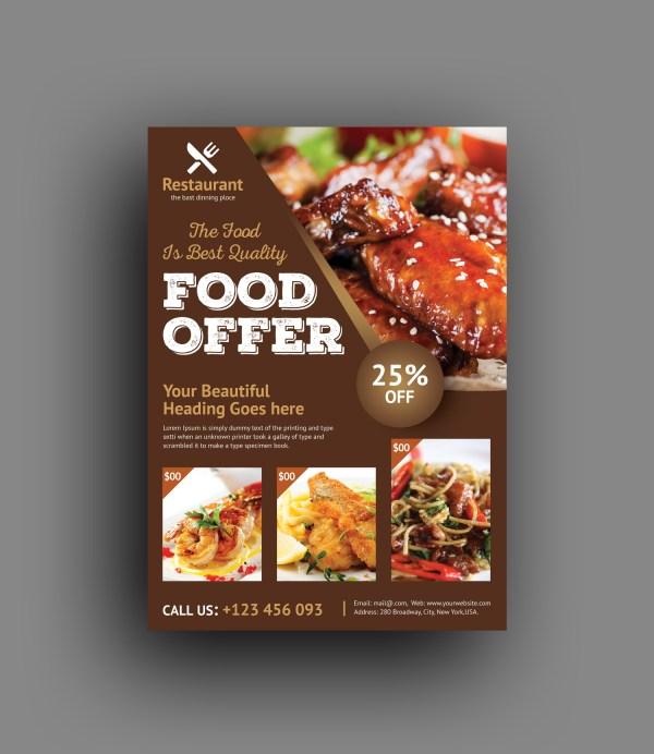 Luxury Restaurant Flyer Template