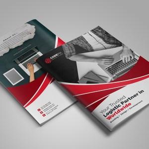 Modern Business Bi-Fold Brochure Design Template