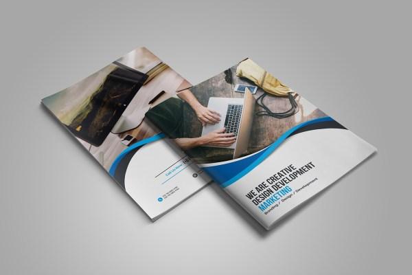 Moonstone Professional Bi-Fold Brochure Template