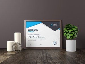Nemesis Professional Landscape Certificate Template