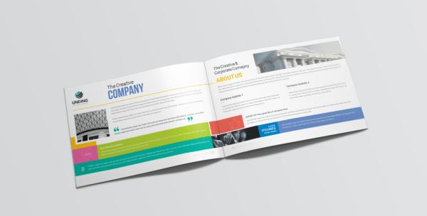 16 Pages Neptune Corporate Landscape Brochure Template