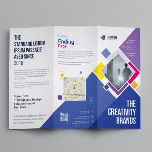Neptune Professional Corporate Tri-Fold Brochure Template