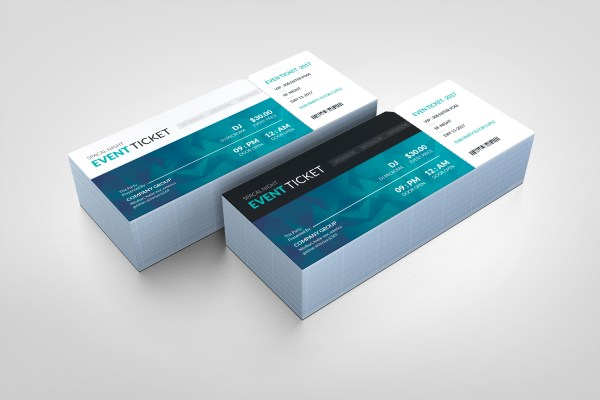 Ocean Modern Event Ticket Template