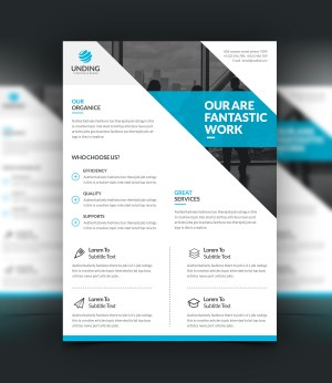 Penelope Modern Stylish Business Flyer Template