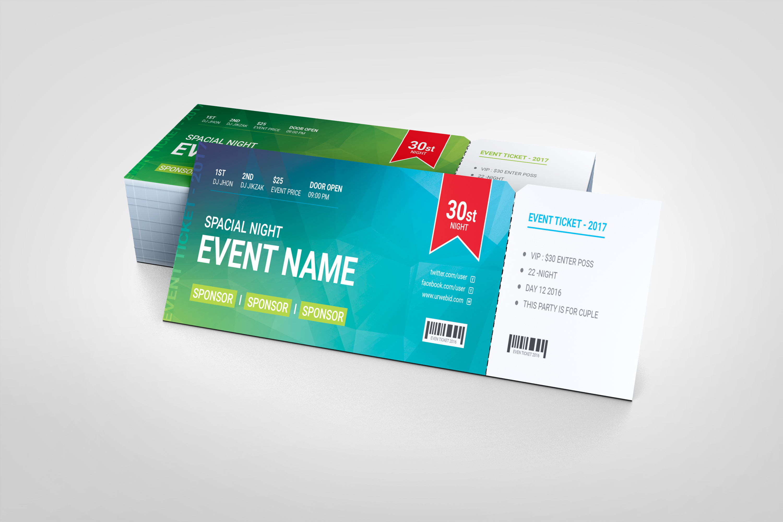 Event Ticket Template | Premium Event Ticket Template Graphic Templates