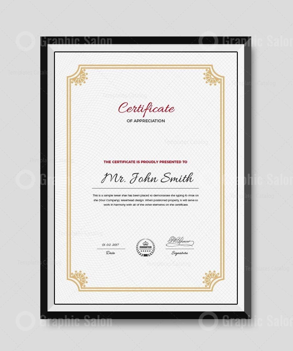 Premium Portrait Certificate Template - Graphic Templates For Scroll Certificate Templates