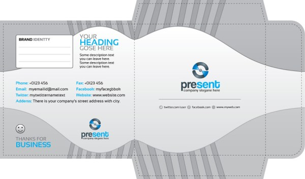 Present CD Sleeve and Sticker Template