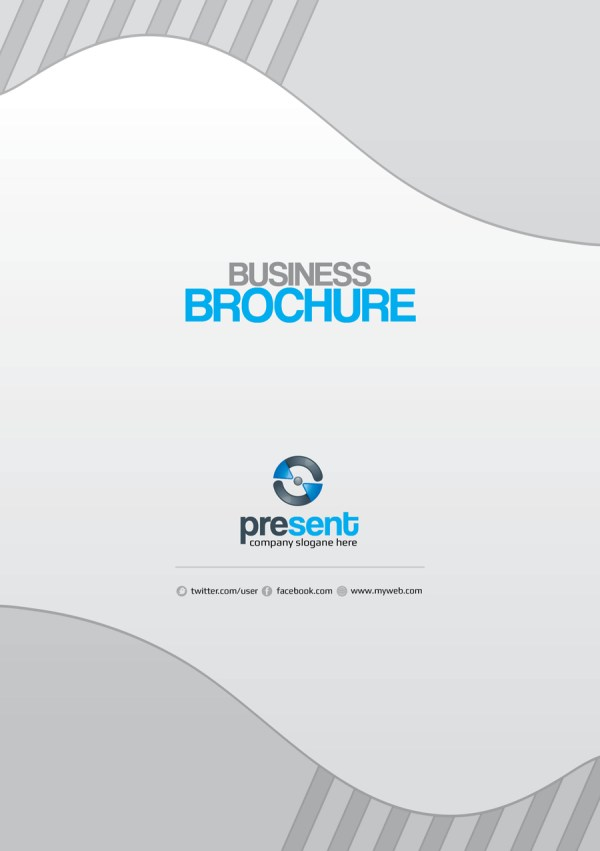 Present Premium Business Bi-Fold Brochure Template