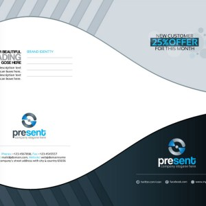 Present Corporate Presentation Folder Template