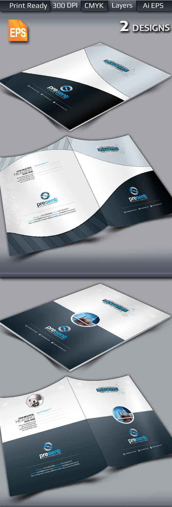 Present Corporate Presentation Folder Template