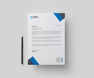 Pyramid Professional Corporate Letterhead Template
