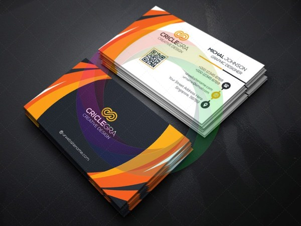 Radial Business Card Template