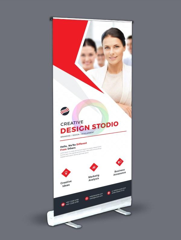 Roll-Up Banner Design Template Bundle 6