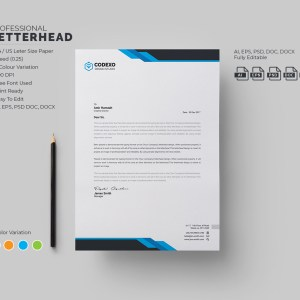 Samurai Professional Corporate Letterhead Template