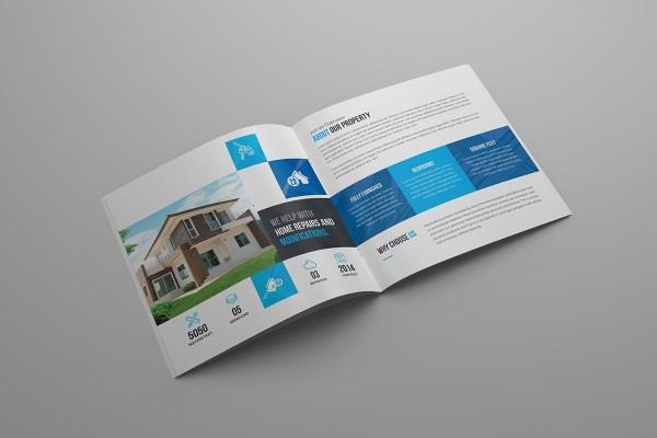Scorpio Premium Square Bi-Fold Brochure Template