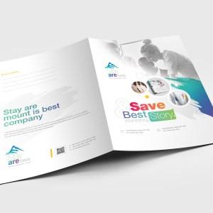 Sleek Corporate Presentation Folder Template