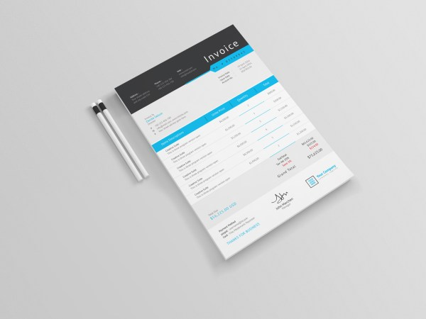 Sleek Professional Corporate Invoice Template