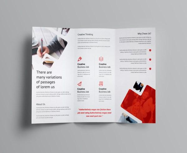Stunning Corporate Tri-Fold Brochure Template