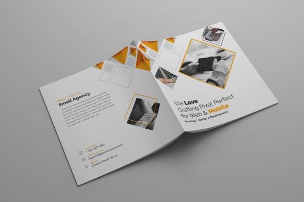 Supernova Premium Square Bi-Fold Brochure Template