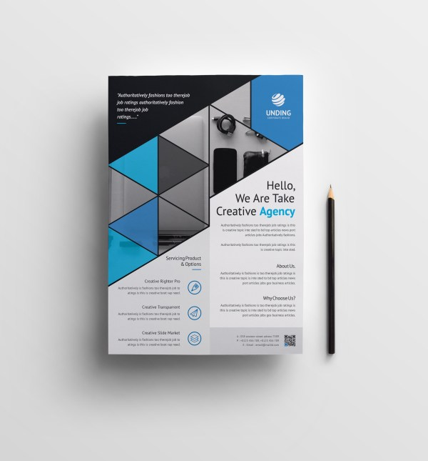 Triangle Elegant Premium Business Flyer Template