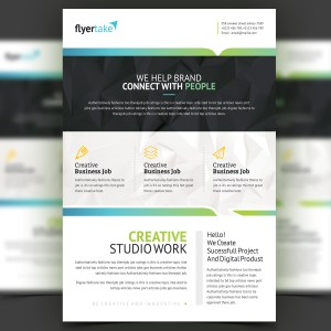 Triton Stylish Professional Corporate Flyer Template