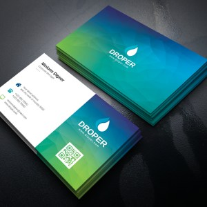 Turquoise Professional Corporate Business Card Template