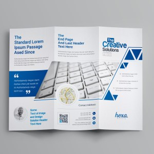 Uranus Professional Corporate Tri-Fold Brochure Template