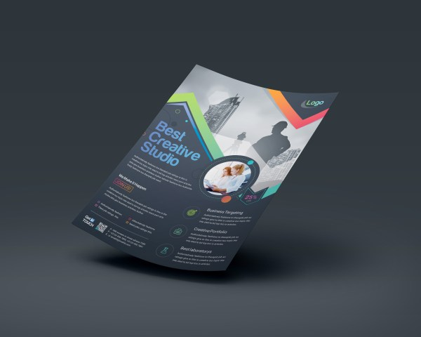 Vega Elegant Professional Business Flyer Template