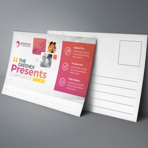 Vega Professional Stylish Postcard Template