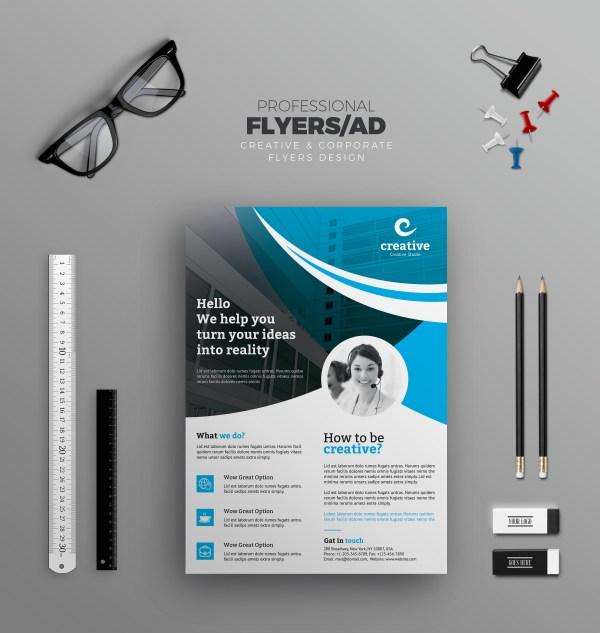 Washington Modern Business Corporate Flyer Template