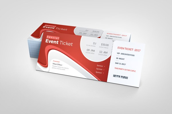 Wave Modern Event Ticket Template