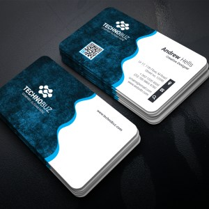 Wavy Technology Business Card Template