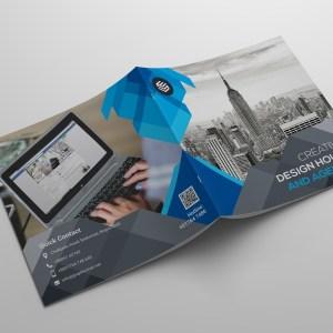 Zeus Corporate Square Bi-Fold Brochure Template
